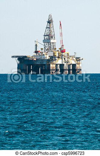 用具一式, 油田採掘, 海, プラットホーム - csp5996723