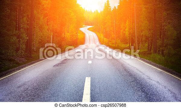 田舎の道路 - csp26507988