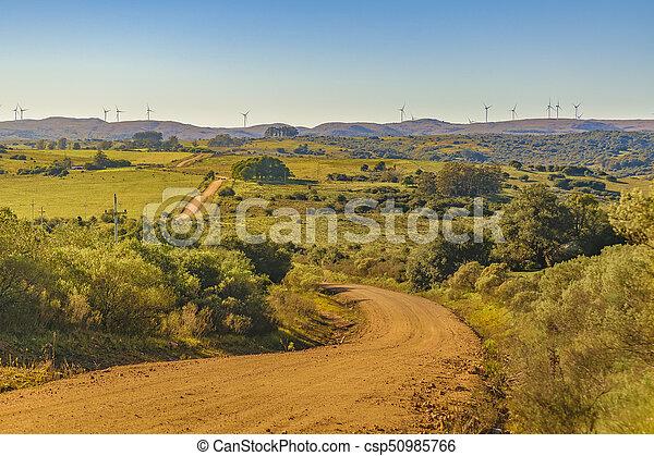 田舎, 現場, maldonado, ウルグアイ - csp50985766