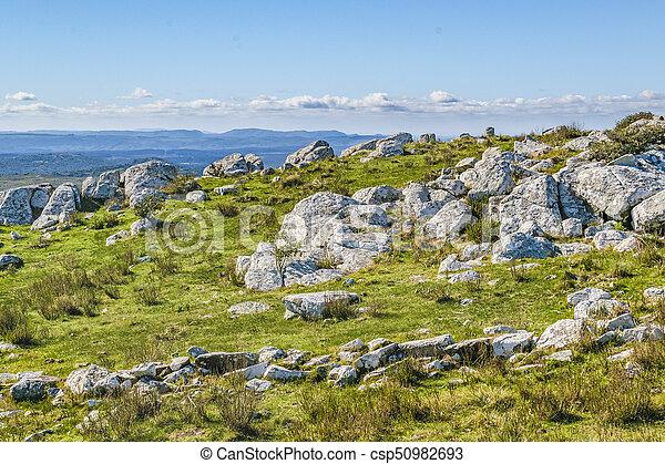 田舎, maldonado, 風景, 岩が多い, ウルグアイ - csp50982693