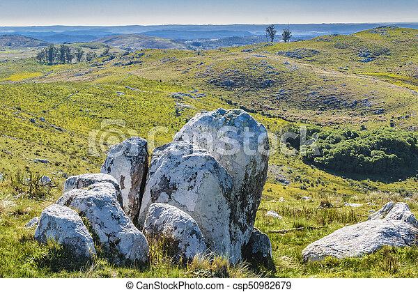 田舎, maldonado, 風景, 岩が多い, ウルグアイ - csp50982679