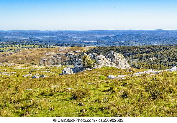 田舎, maldonado, 風景, 岩が多い, ウルグアイ - csp50982683