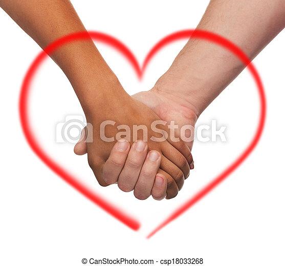 男の女性, 手を持つ - csp18033268