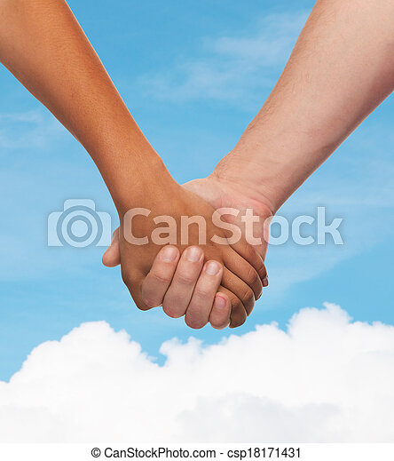 男の女性, 手を持つ - csp18171431