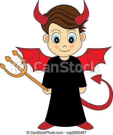 男の子, かわいい, 悪魔 - csp2855487