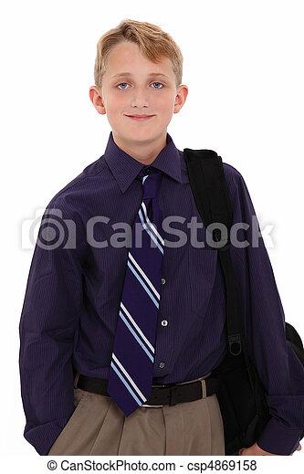 男の子, スーツ - csp4869158