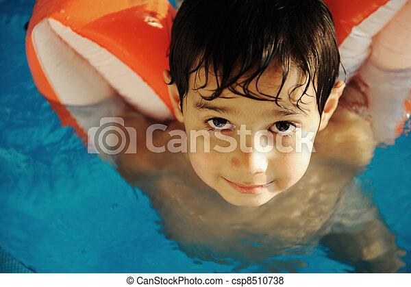 男の子, プール, 子供 - csp8510738