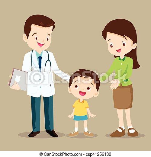 男の子, 医者, かわいい - csp41256132