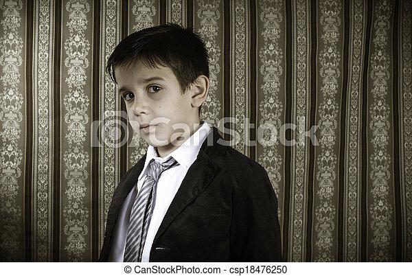 男の子, 型, スーツ - csp18476250