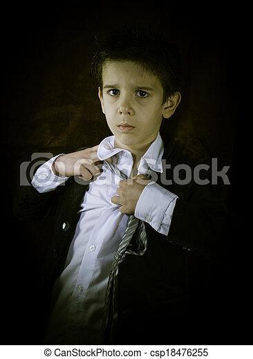 男の子, 型, スーツ - csp18476255