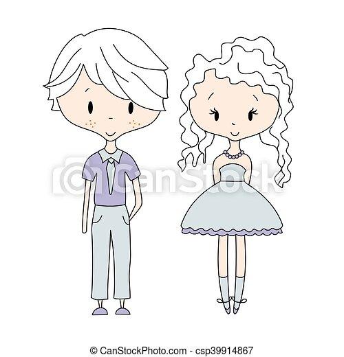 男の子 子供 アイコン イラスト Vector 女の子 グループ 人形