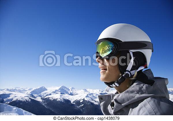 男の子, 山。, スノーボーダー - csp1438079