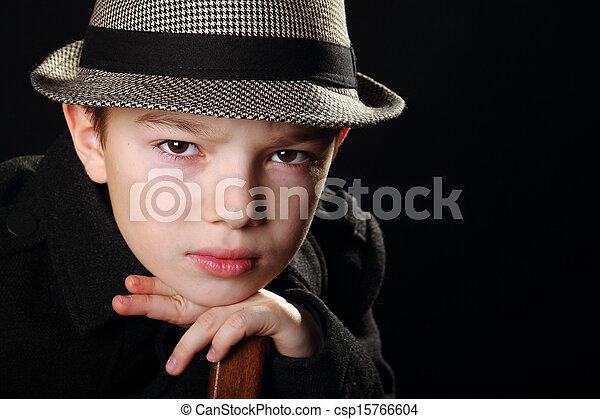 男の子, 帽子 - csp15766604