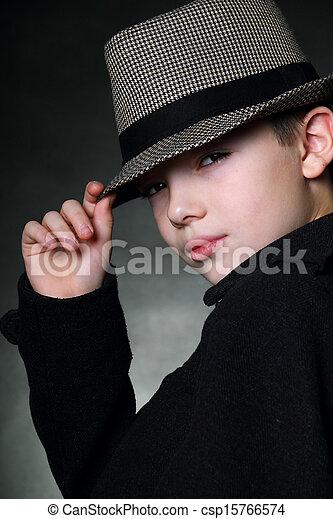 男の子, 帽子 - csp15766574