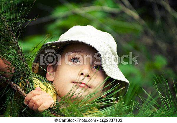 男の子, 探検家 - csp2337103