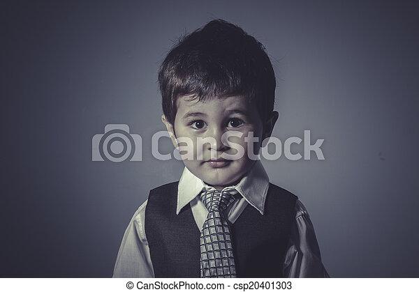 男の子, 概念, ビジネス, タイ, スーツ - csp20401303