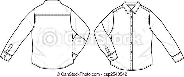 男の子, 男性, シャツ, 形式的 - csp2540542