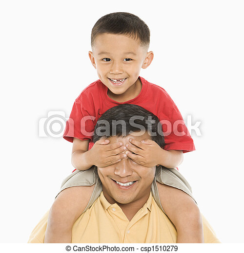 男の子, 肩。, father\'s - csp1510279