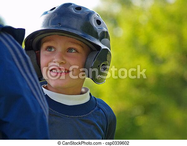 男の子, 野球, 遊び - csp0339602