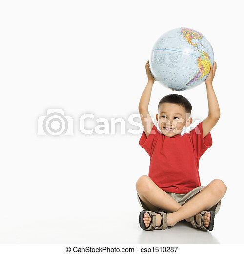 男の子, globe., 保有物 - csp1510287