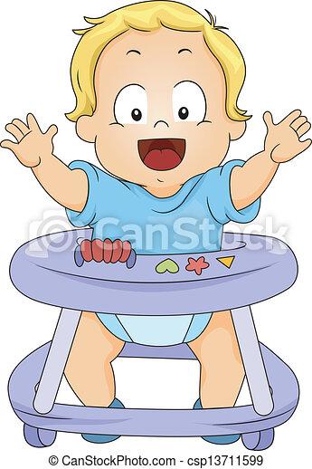 男の赤ん坊, よちよち歩きの子, 歩行者 - csp13711599