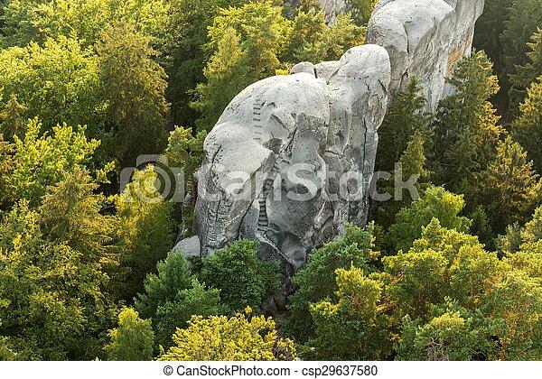 町, 岩, hruba, skala - csp29637580