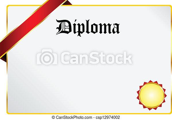 畢業証書 - csp12974002