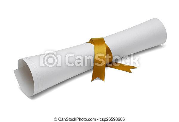 畢業証書, 畢業 - csp26598606