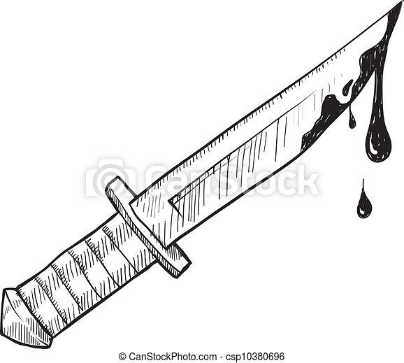 略述, 謀殺, 或者, 刀 - csp10380696
