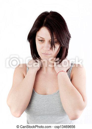 疼痛, 脖子 - csp13469656