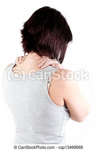 疼痛, 脖子 - csp13469668