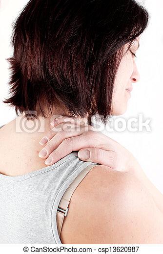 疼痛, 脖子 - csp13620987