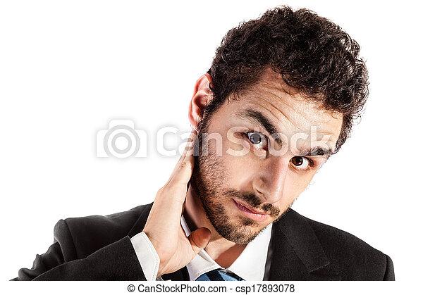 疼痛, 脖子 - csp17893078