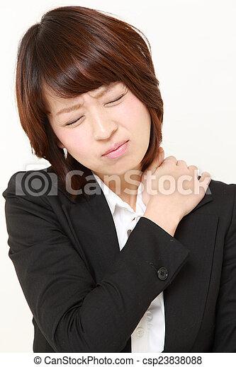疼痛, 脖子 - csp23838088