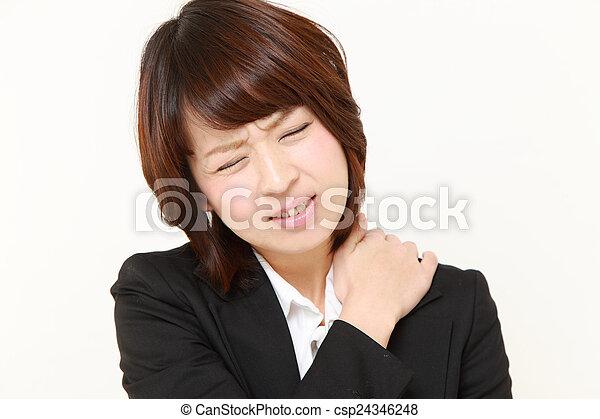 疼痛, 脖子 - csp24346248