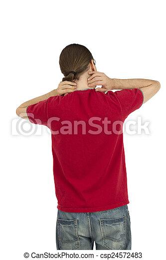 疼痛, 脖子 - csp24572483