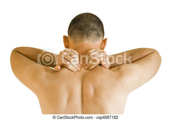 疼痛, 脖子 - csp4087182