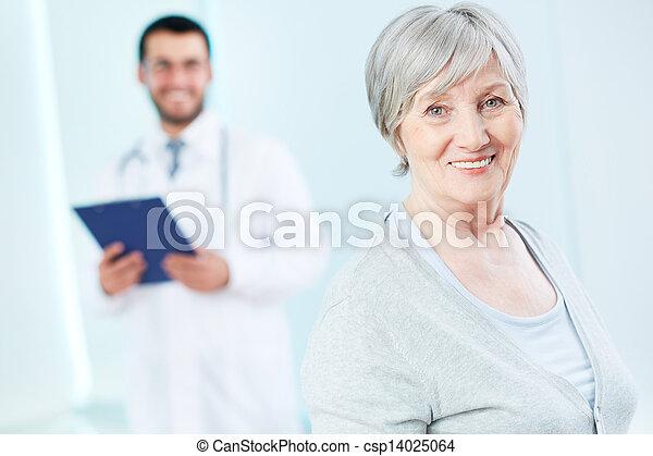 病人, 年長 - csp14025064