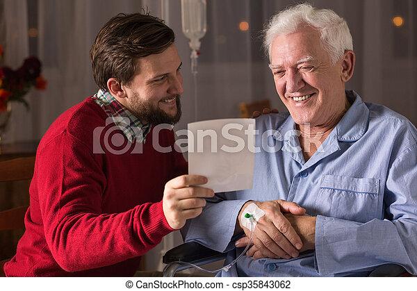病気, 父, 息子 - csp35843062