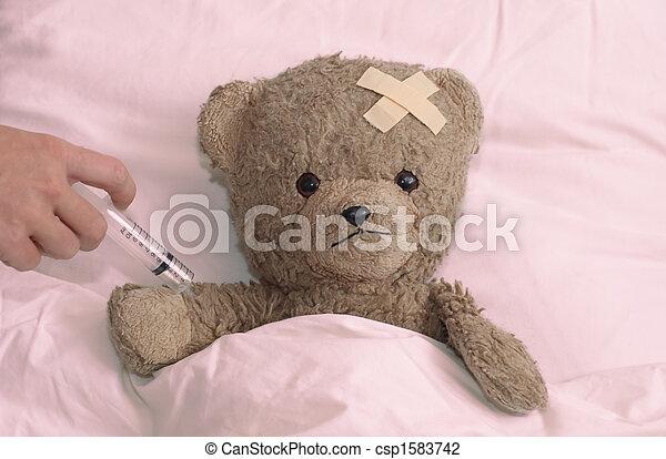 病院, テディ - csp1583742