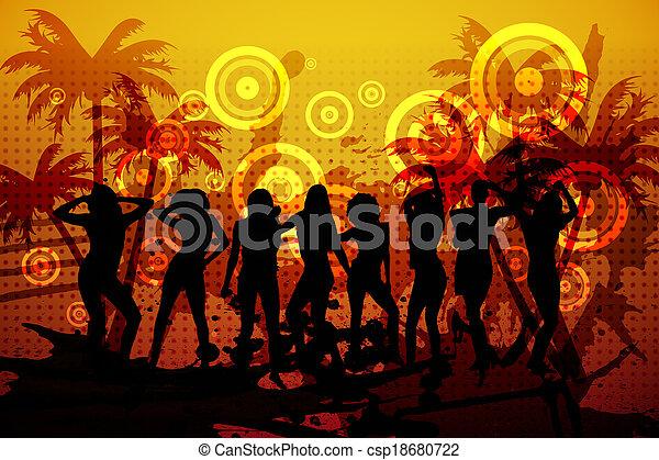 発生させる, デジタル, 背景, ナイトクラブ - csp18680722