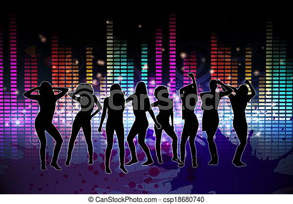 発生させる, デジタル, nightlife, 背景 - csp18680740
