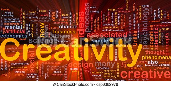 發光, 概念, 創造性, 背景, 創造性 - csp6382978