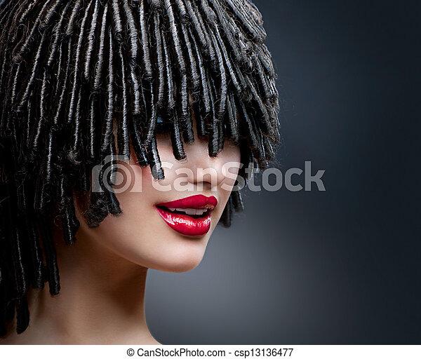 發型, hairdress. - csp13136477