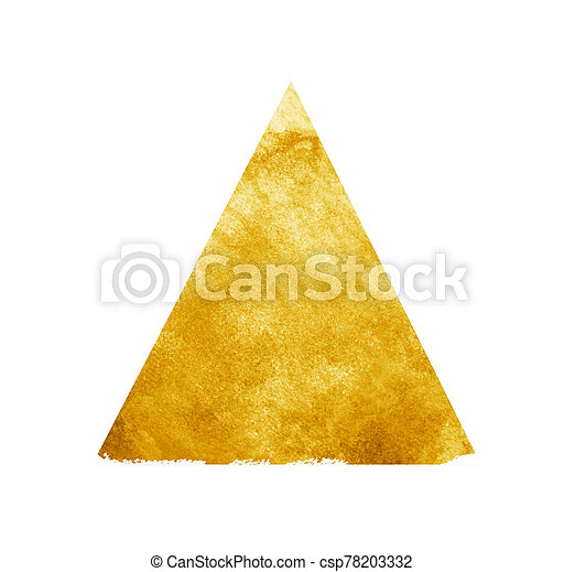 白い背景, 三角形, 水彩画 - csp78203332