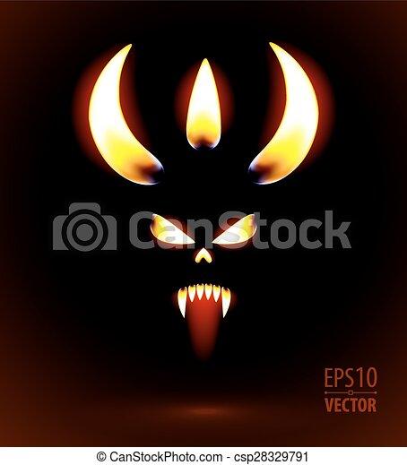 白熱, 悪魔, シルエット - csp28329791