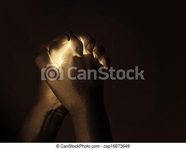 白熱, 祈る 手 - csp16873649