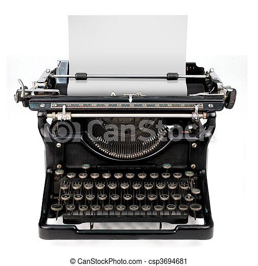 白紙, タイプライター - csp3694681