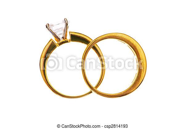 白色的婚禮, 戒指, 被隔离, 二 - csp2814193