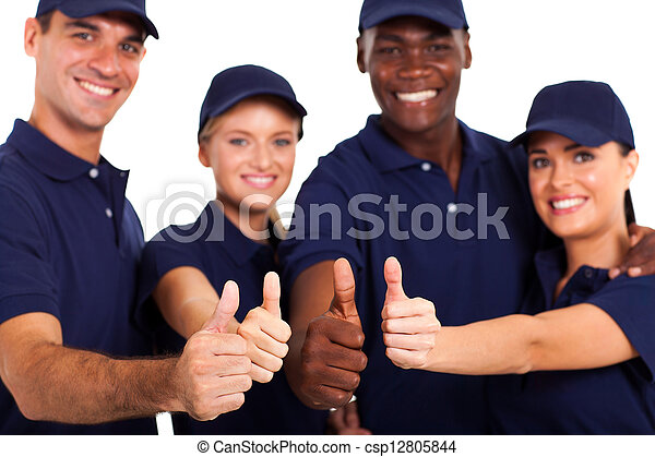 白色, 人員, 向上, 服務, 拇指 - csp12805844